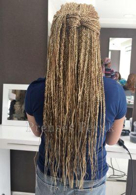 Karamel Röfleli Afro Örgüsu Kaynak