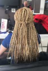 Prenses Peruk - Karamel Röfleli Afro Örgüsu Kaynak