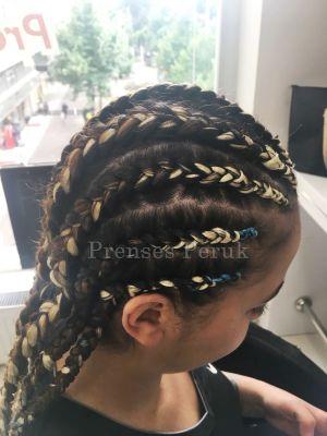 Kendi Saçına Renkli Afro Kaynak Uygulaması