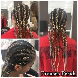 Prenses Peruk - Kendi Saçına Renkli Afro Kaynak Uygulaması