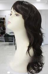 Prenses Peruk - Kestane Rengi Uzun Doğal Model Peruk