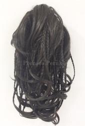 Prenses Peruk - Kestane Renk Örgülü Model Postiş