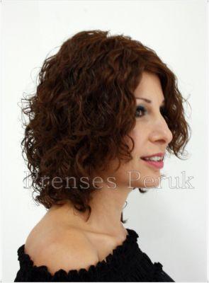 Kıvırcık Doğal Saç Medikal Peruk Modelleri