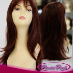 Prenses Peruk - Kızıl Uzun Sentetik Peruk Düz Model