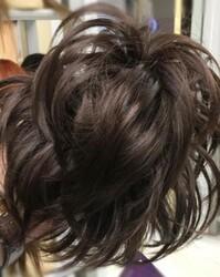 Prenses Peruk - Koyu Kahve Telli Düz Model Topuz Tokası