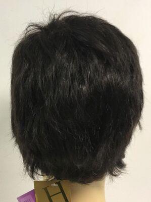 Koyu Kestane Doğal Renk Gerçek Saç Erkek Peruk