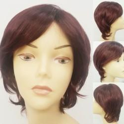 Prenses Peruk - Koyu Kızıl Kısa Katlı Modern Peruk