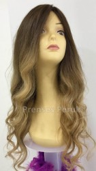 Prenses Peruk - Kumral Ombreli Uzun ve Gür Doğal Saç Peruk