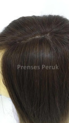 Kumral Ombreli Uzun ve Gür Doğal Saç Peruk - Thumbnail