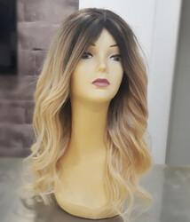 Prenses Peruk - Kumral Ombreli Yoğun ve Uzun Saç Gerçek Saç Peruk