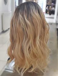 Kumral Ombreli Yoğun ve Uzun Saç Gerçek Saç Peruk - Thumbnail