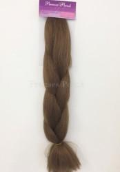 Prenses Peruk - Kumral Zenci Örgü Kaynak İçin Ham Saç