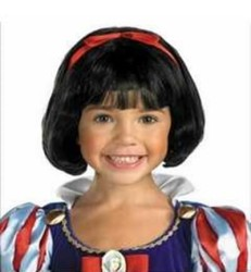 Prenses Peruk - Küt Siyah Peruk - Pamuk Prenses