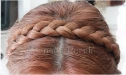 Prenses Peruk - Lastikli Örgü Saç Bandi Taç