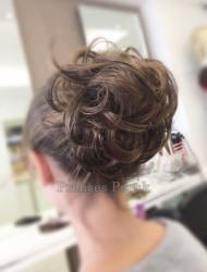 Prenses Peruk - Lastikli Topuz Saç Modeli