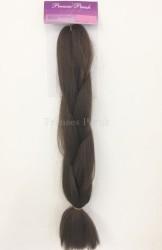 Prenses Peruk - Örgü Kaynak Saç Malzemesi Kestane Renk