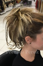 Prenses Peruk - Örgü Saç Topuz Modeli-Farklı Renkleri Mevcuttur
