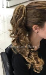 Prenses Peruk - Parlamayan Sentetik Uzun Postiş Işıltılı Koyu Kumral