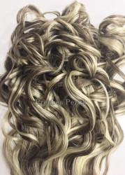 Platin Balyajlı Uzun Boy Dalgalı Çıt Çıt Saç Takımı - Thumbnail