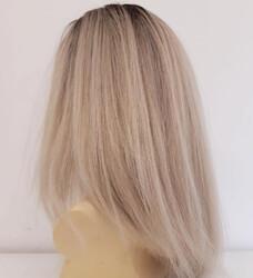 Platin Ombreli Uzun Doğal Saç Medikal Peruk - Thumbnail