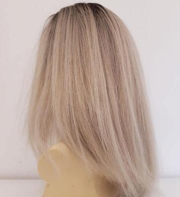 Platin Ombreli Uzun Doğal Saç Medikal Peruk