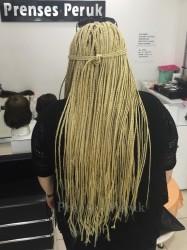 Platin Sarısı Afrika Örgüsü Saç Kaynağı - Thumbnail