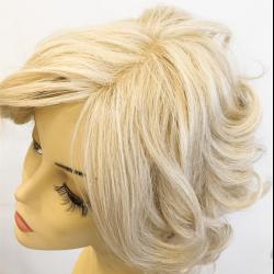 Platin Sarısı Doğal Saç Medikal Peruk - Thumbnail