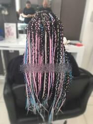 Prenses Peruk - Renkli Afrika Örgüsü Kaynak Saç