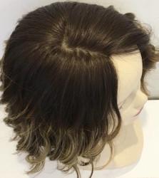 Röfleli Kısa Medikal Peruk En Doğal Saçlar - Thumbnail