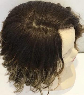 Röfleli Kısa Medikal Peruk En Doğal Saçlar