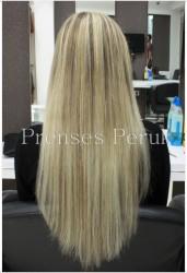 Prenses Peruk - Röfleli Uzun Saç 1. Kalite Boncuk Kaynak
