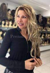 Prenses Peruk - Röfleli Uzun Boy Kaliteli Yarım Peruk Modeli
