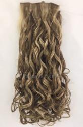 Prenses Peruk - Sarı Röfleli Su Dalgası Uzun Boy Sentetik ÇıtÇıt Saç