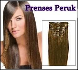 Prenses Peruk - Fiber Sentetik ÇıtÇıt Saç 8 Adet En Uzun Boy