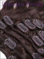 Kanekalon ÇıtÇıt Saç Postiş Kestane Tonunda Maşalı - Thumbnail