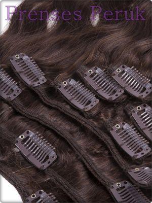 Kanekalon ÇıtÇıt Saç Postiş Kestane Tonunda Maşalı