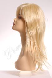 Prenses Peruk - Sentetik Peruk Platin Renk Katlı Kesim Uzun Boy