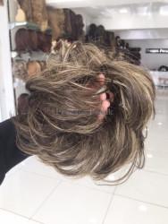 Prenses Peruk - Sentetik Saç Lastikli Topuz Modeli