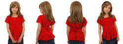 Prenses Peruk - Sentetik Uzun Boy Doğal Model Çocuk Peruk