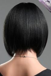 Siyah Küt Modern Peruk - Thumbnail