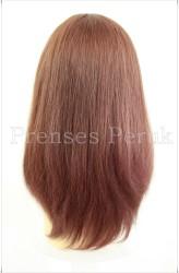 Uzun Gerçek Saç Medikal Peruk - Thumbnail